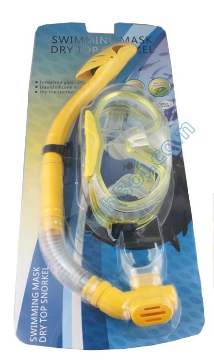 kính lặn vòi hơi Aryca (ống thở drytop - van 1 chiều chống sặc)