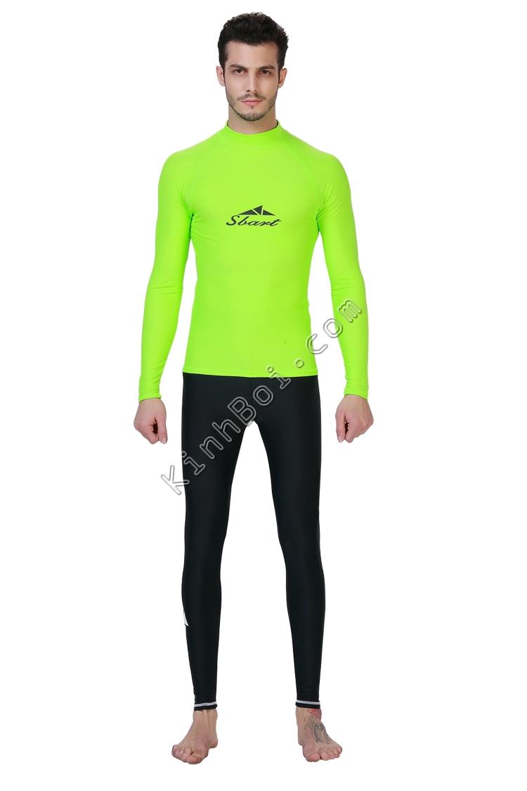 Áo bơi tay dài nam Xanh Chuối - Sbart 702