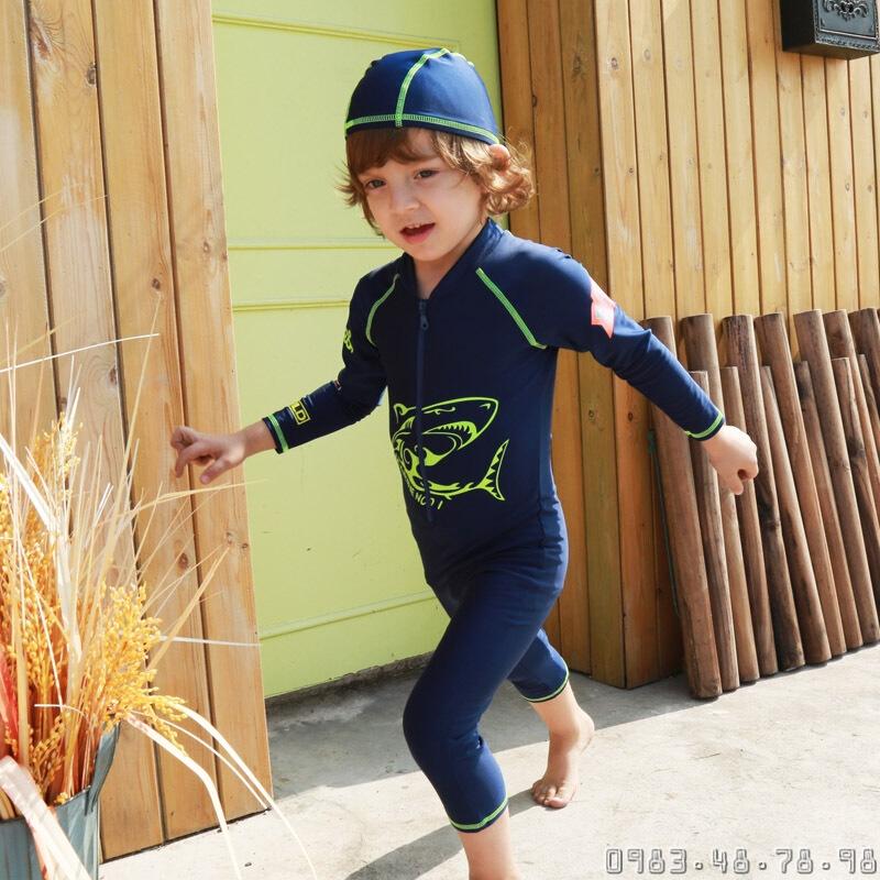 bộ bơi liền bé trai chống nắng chống UV vivo biniya