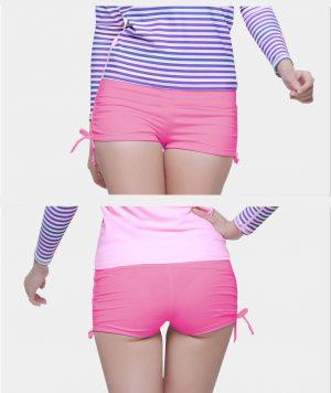 Quần bơi nữ dạng đùi màu hồng Sbart 8014