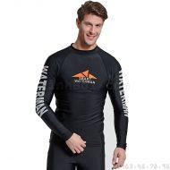 Áo Bơi Nam Dài Tay Chống Nắng Chống UV Sbart D760 Đen