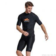 Áo Bơi Nam Cộc Tay Chống Nắng Chống UV Sbart D763 Đen