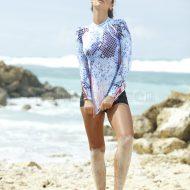 Bộ Quần+ Áo Bơi Dài Tay Nữ D116 Chống Nắng Chống UV