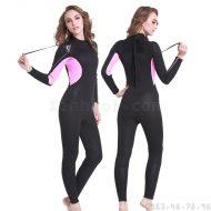 Bộ Bơi Liền Nữ Giữ Nhiệt Dày Wetsuit 3mm Sbart 1013 - Đen Hồng