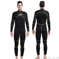 Bộ Bơi Liền Nam Giữ Nhiệt Dày Wetsuit 3mm Sbart 1016 - Đen