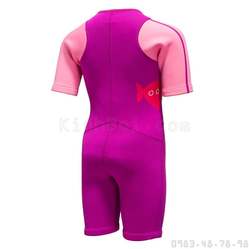 Bộ Bơi Liền Giữ Nhiệt (Wetsuit 2mm) Sbart 1036 Trẻ Em - Hồng