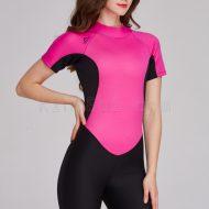 Bộ Bơi Liền Giữ Nhiệt Nữ Wetsuit Sbart 1055 Đen Hồng