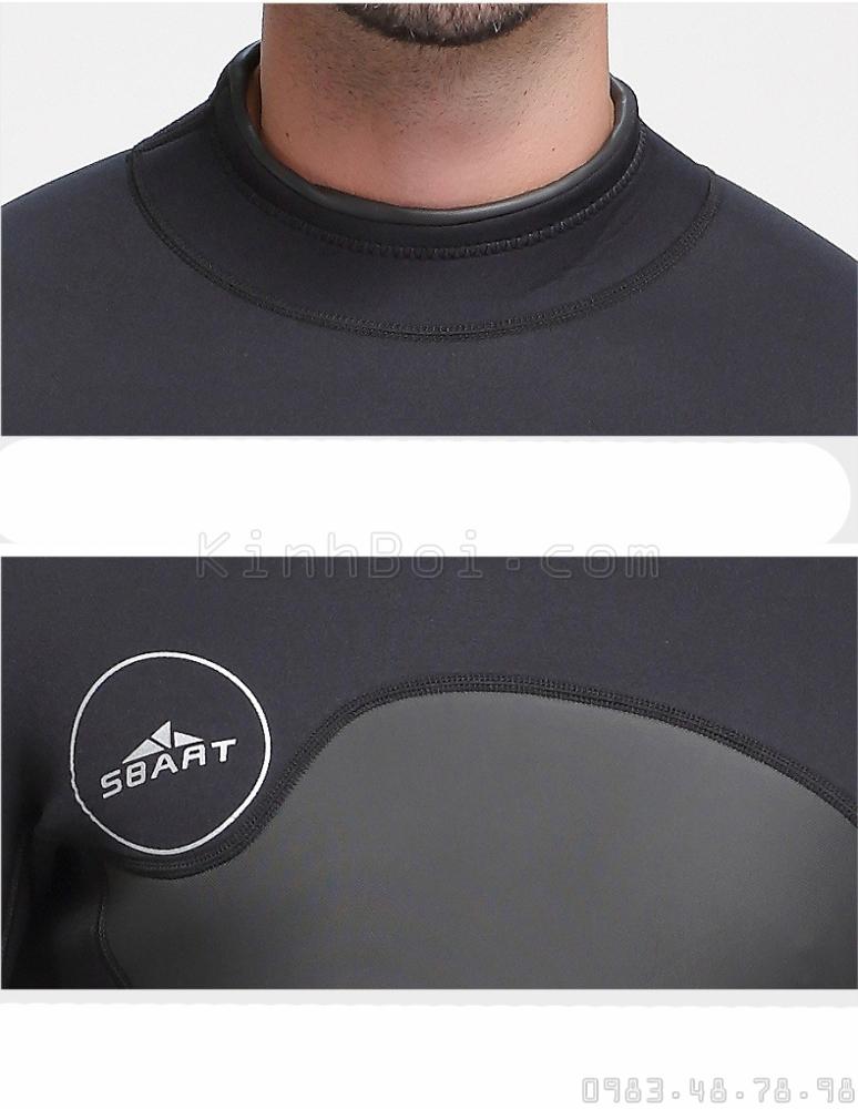 Bộ Bơi Liền Nam Giữ Nhiệt Dày Wetsuit 3mm Sbart 1070 - Đen