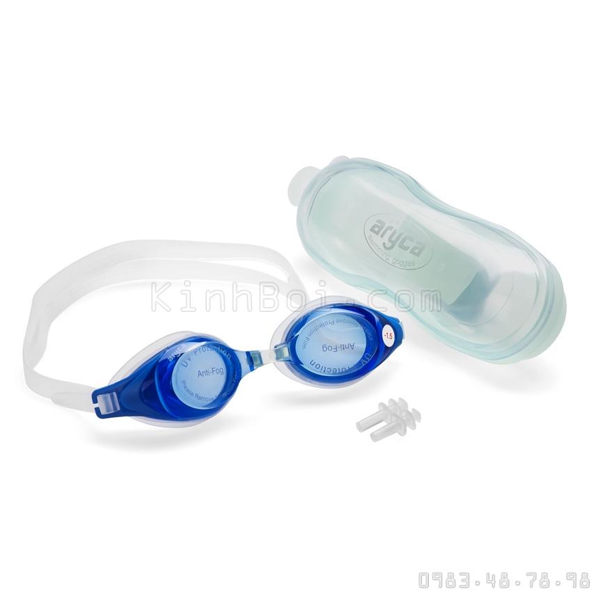 Kính Bơi Cận Aryca WG1300 Màu Xanh từ 1.5 Tới 8 Diop