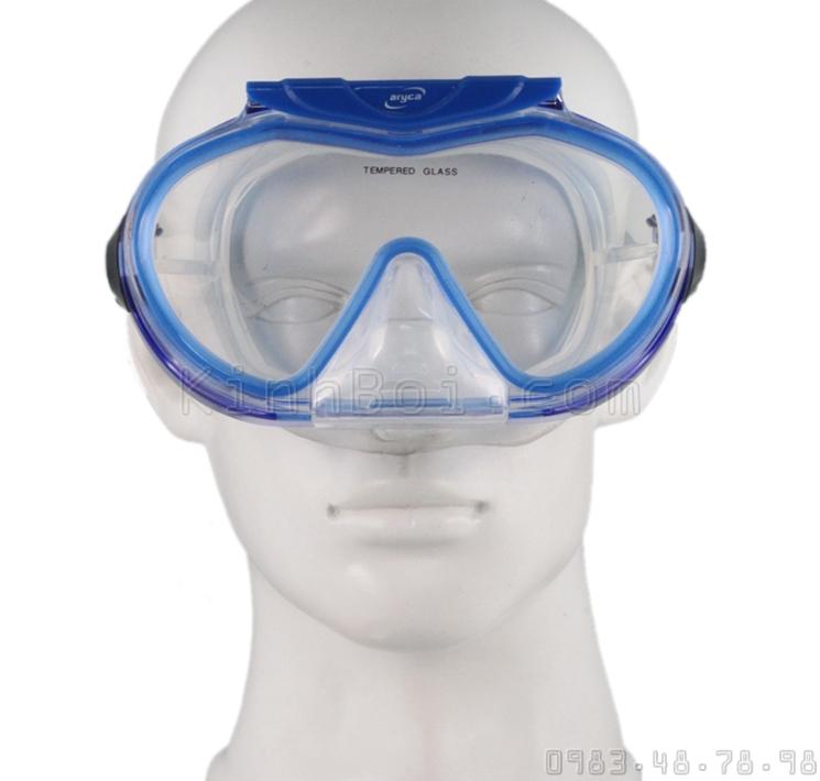 Kính Lặn (Mặt Nạ) Vòi Hơi (Ống Thở) Aryca Dry Top Snorkel (Vàng)