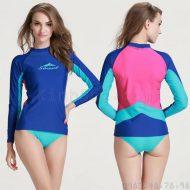 Áo Bơi Dài Tay Nữ Sbart 923 - Xanh Lưng Hồng
