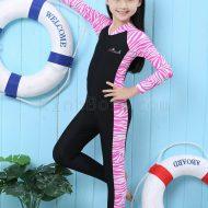 Bộ Bơi Liền Thân Tới Gót Bé Gái Blue Ocean - Hồng
