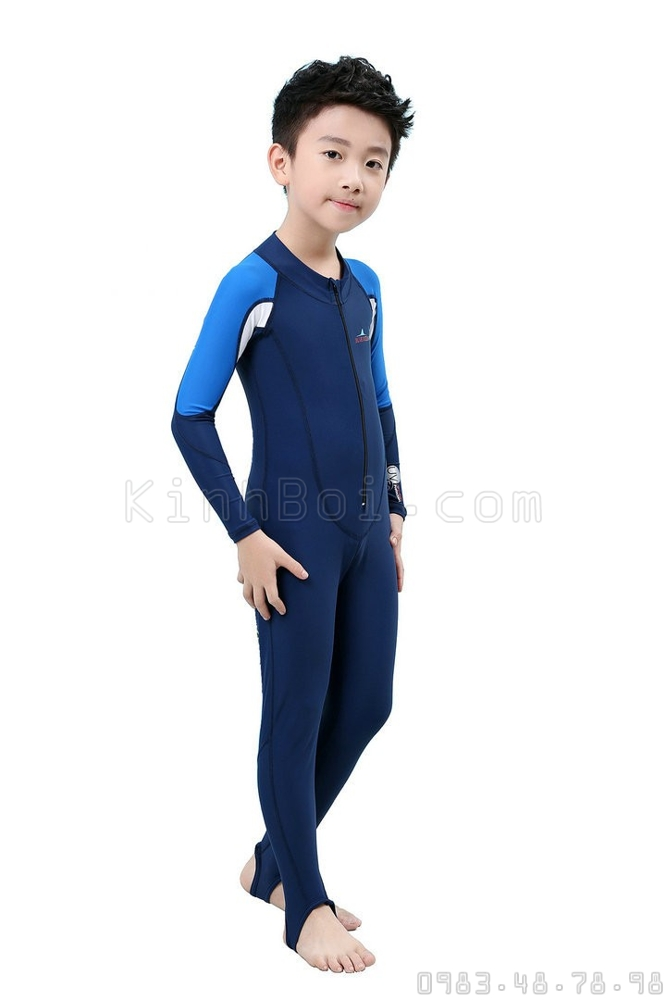 Bộ Bơi Liền Thân Tới Gót Bé Trai Blue Ocean - Xanh