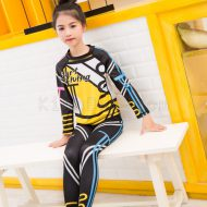 Bộ Bơi Trẻ Em Dài Tay Chống Nắng Chống UV Sbart D0304 - Đen Vàng