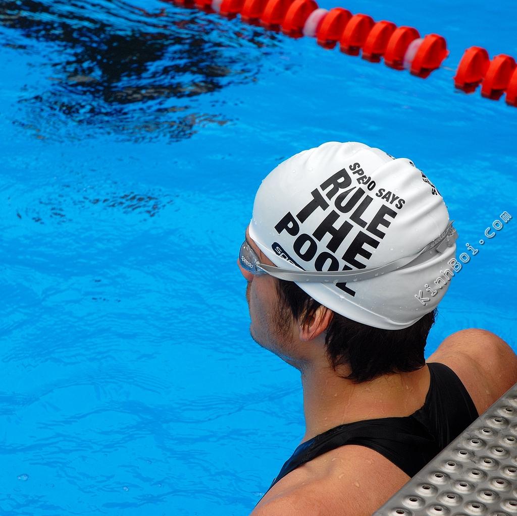 mũ bơi slogan speedo rule the pool