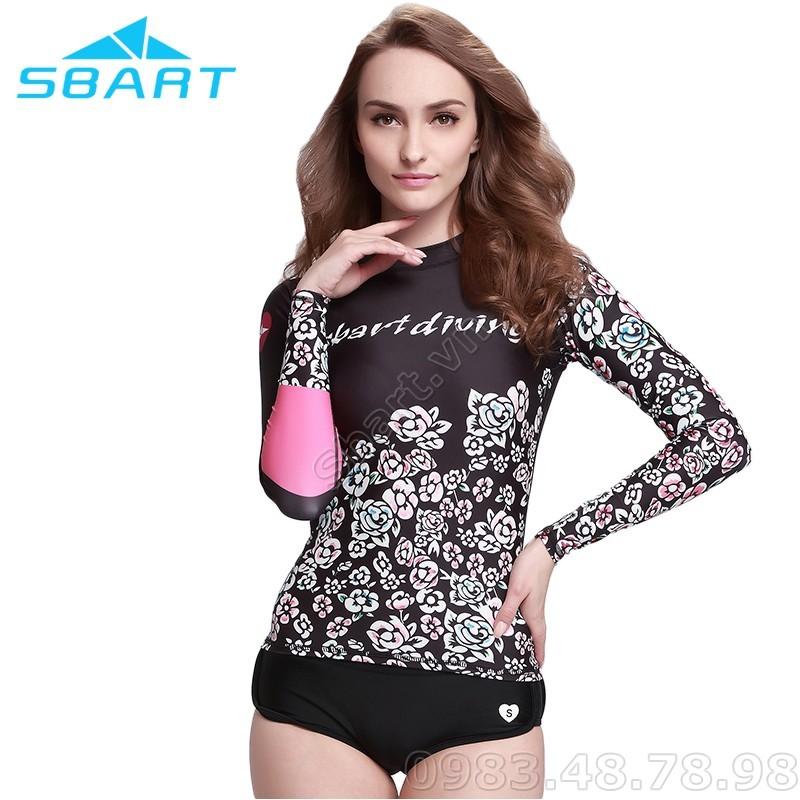 Áo bơi dài tay chống nắng chống UV Sbart Nữ
