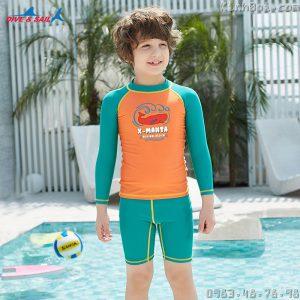 Bộ Bơi Bé Trai Dài Tay Chống Nắng