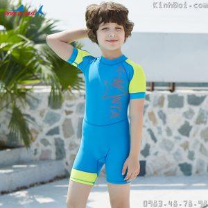 Bộ Bơi Liền Bé Trai Cộc Chống Nắng Chống UV