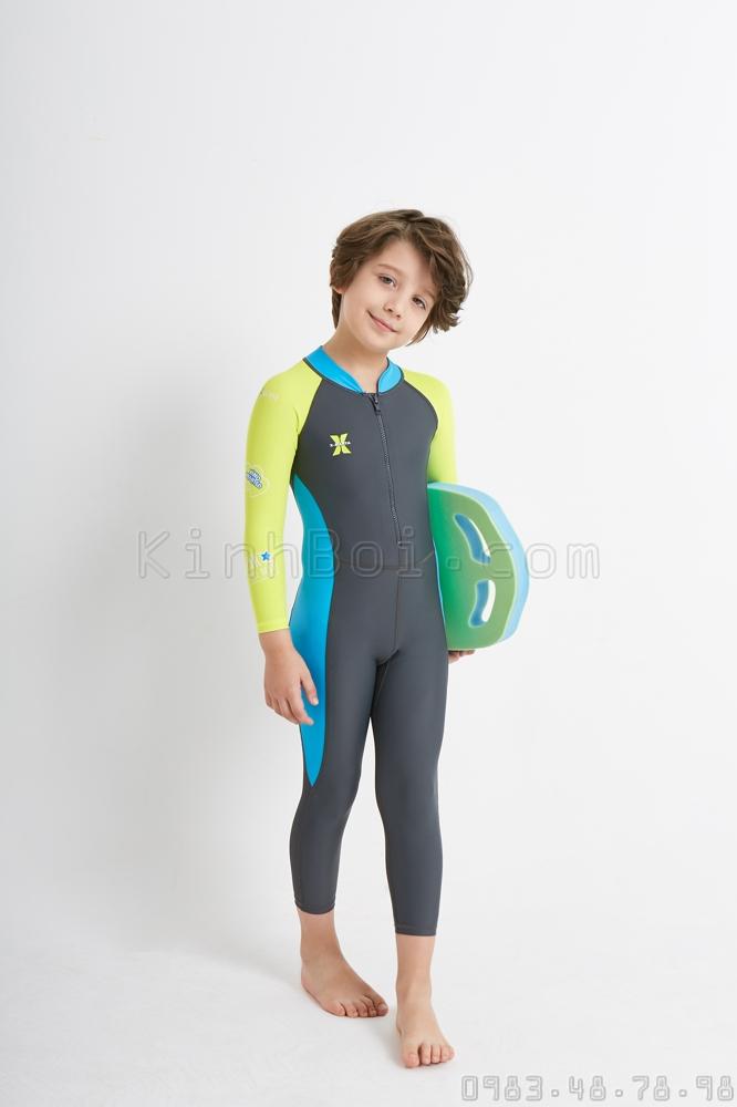 Bộ Bơi Liền Bé Trai DS21 Xanh