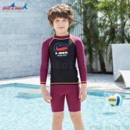 Bộ Bơi Rời Dài Tay Bé Trai DS35 Đen