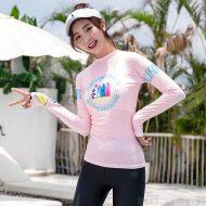 Áo bơi nữ chống nắng chống UV Sbart D170 Hồng