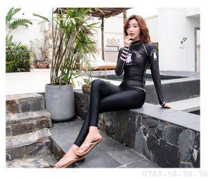 Áo bơi dài tay nữ chống nắng Sbart D170