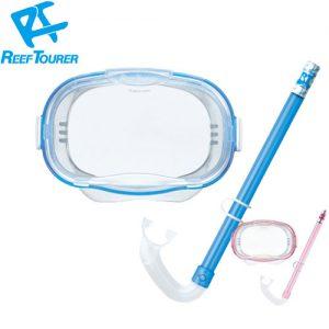 Bộ kính lặn và ống thở cho bé 4-9 tuổi ReefTourer Xanh