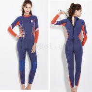 Bộ Bơi Liền Nữ Giữ Nhiệt Dày Wetsuit 3mm Xanh Tím