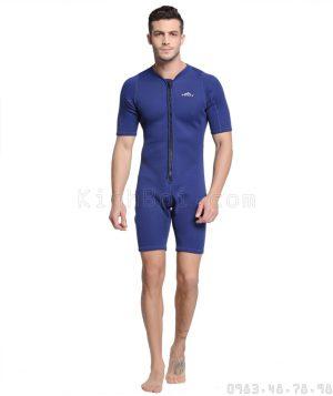Bộ Bơi Liền Giữ Nhiệt Wetsuit Sbart Xanh Tới Đùi 2mm