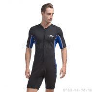 Bộ Bơi Liền Giữ Nhiệt Wetsuit Sbart Xanh Đen Dài Tới Gối Dày 2mm