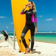 Bộ Bơi Liền Nữ Giữ Nhiệt Dày Wetsuit 3mm Sbart Đen Hồng
