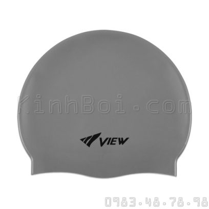 Mũ Bơi Silicone View - Xám