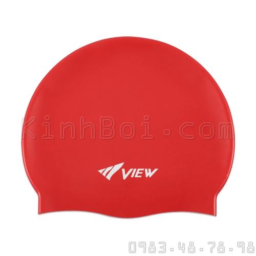 Mũ Bơi Silicone View - Đỏ