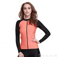 Áo bơi dài tay nữ chống nắng Sbart 950 Cam Đen