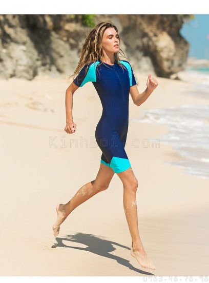 đồ bơi nữ cho người mập Sbart D13-61 Đen Xanh